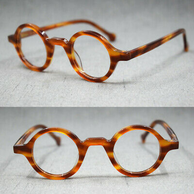 Hand Made Small Vintage Round Eyeglass Frames Full Rim Acetate Glasses Rx (Vintage Round Spectacles)