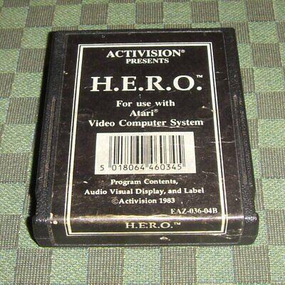H.E.R.O. pour Atari 2600 VCS Activision Hero black label étiquette noire, usado comprar usado  Enviando para Brazil