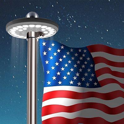 Solar Flag Pole 6th Gen Light, Bright 26 LED Solar Powered Waterproof LED USA