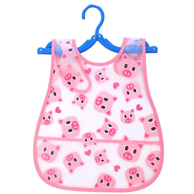 Newborn Cute Kids Bibs Baby Soft Cartoon Bib Toddler Waterproof Saliva Dripping R