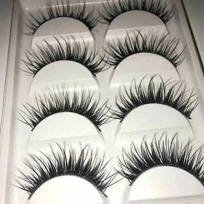 Thick Long Best Quality Cross Fake New 5 Pairs Makeup False Eyelashes