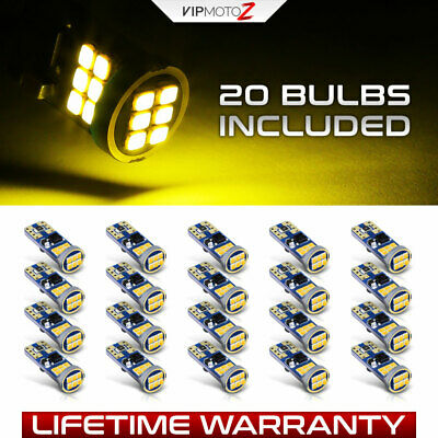 [BEST VALUE] 20X T10 168 194 SMD LED Car Wedge Interior Light Dome Map Lamp