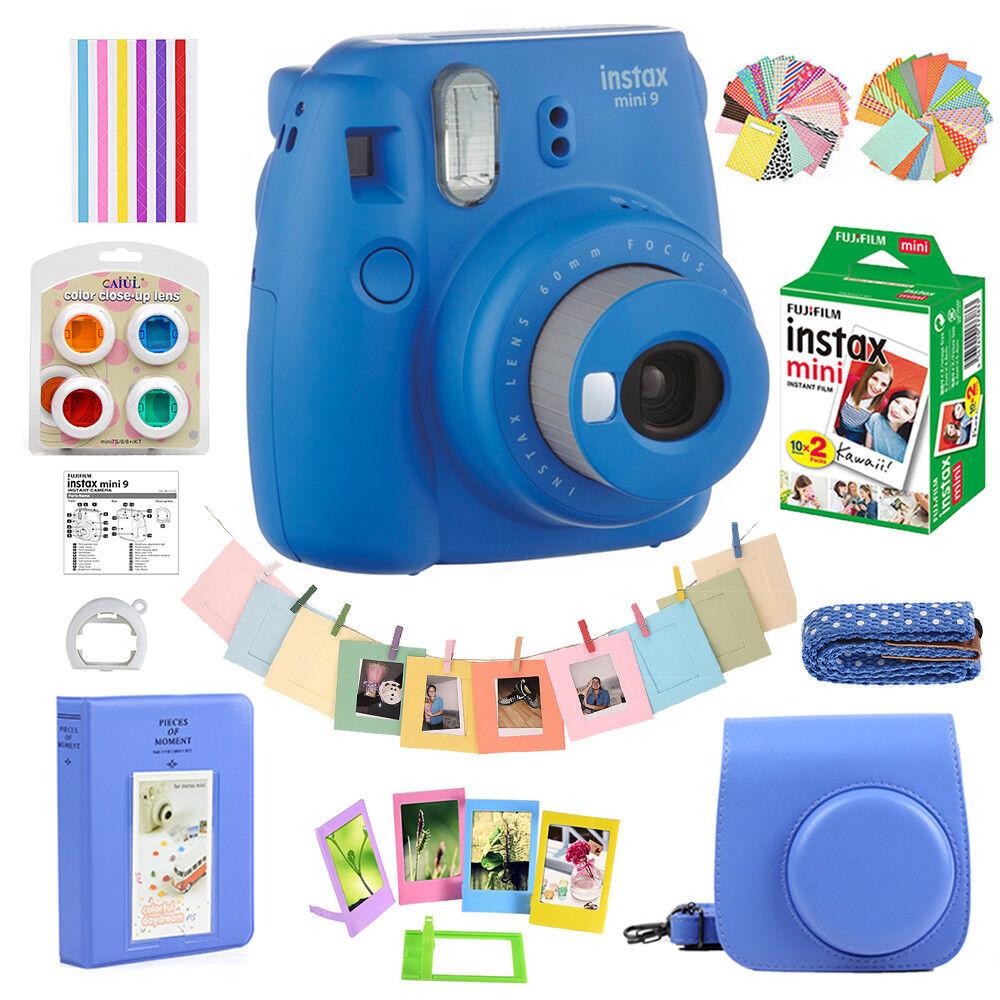Fujifilm Instax Mini 9 Camera  20 Fuji Instant Film  Bag  Album w10 in 1 Kit