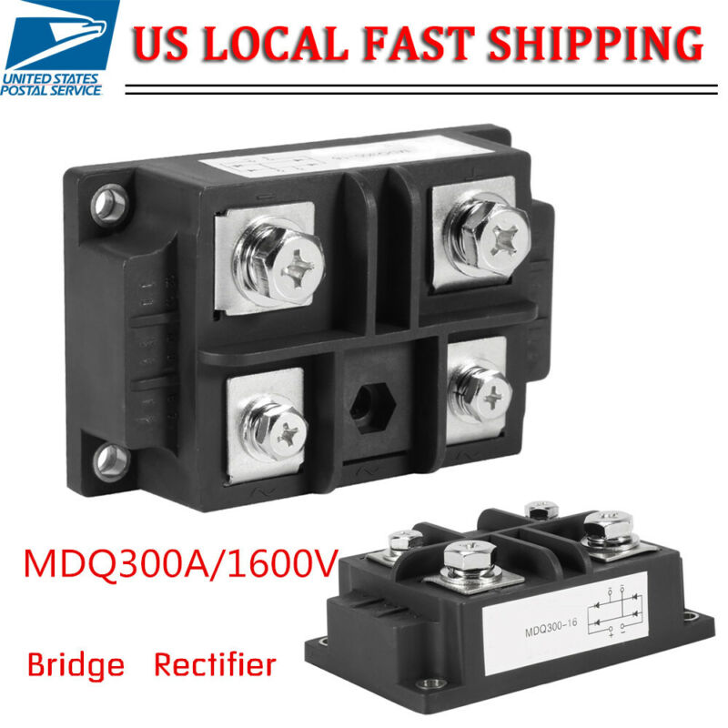 4 Terminals Single-Phase Diode Bridge Rectifier 300A Amp High Power 1600V US