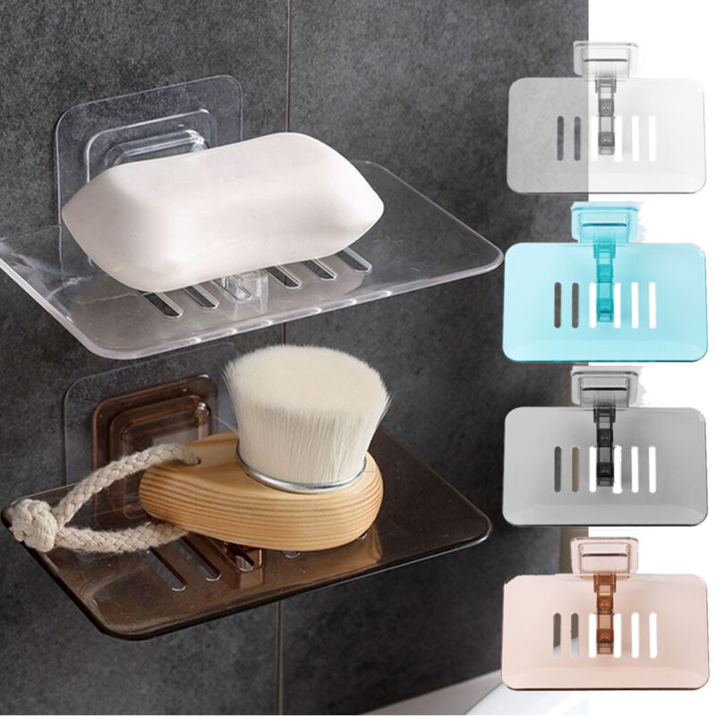 Wall Storage Basket Draining Rack Self-adhesive Soap Holder Cleaning Ball Case