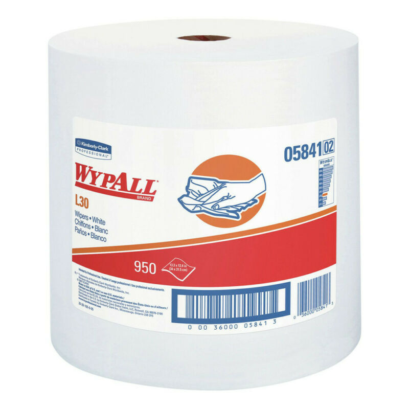 WypAll 05841 950/Roll L30 Wipers Jumbo Roll - White New