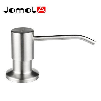 JOMOLA Kitchen Sink Soap Dispenser SUS304 Stainless Steel Brushed 13OZ PE Bottle
