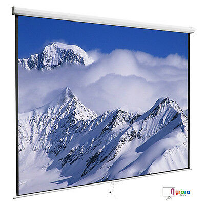 Projection Screen 100 169 Manual Pull Down Projector Home Movie Matte White