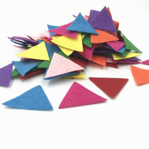 500pcs Mixed Colors Die Cut triangle Felt Appliques scrapbooking decoration 30mm