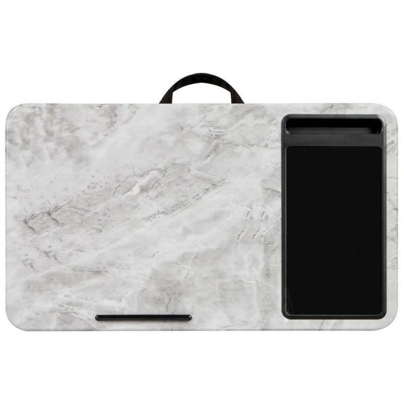 "LapGear - Home Office Lap Desk for 15.6"" Laptop - White Marble - White Marble"