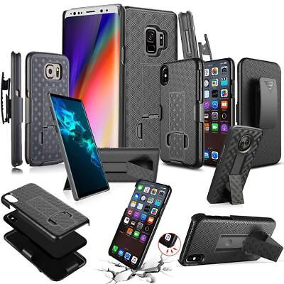 Mobile Phone Holster - Slim Armor Shockproof Defender Holster Belt Clip Kickstand Case For Mobile Phone