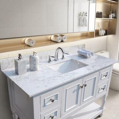 43 inch Bathroom Marble Vanity Top w/ Rectangle Ceramic Sink for Vanity Cabinet
