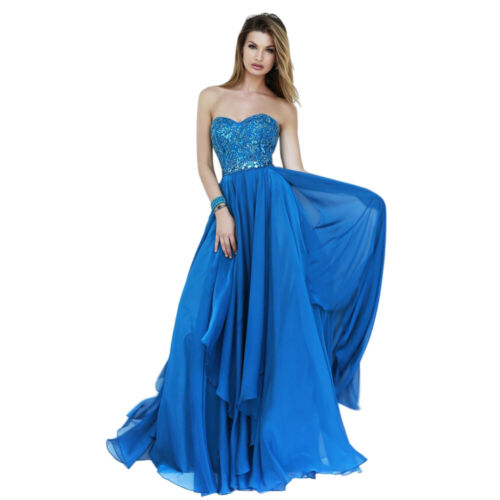Sherri Hill Prom Dress Formal Evening Gown Style 1943 Periwinkle Size 12
