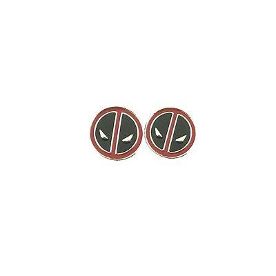 New Marvel Superhero Super Hero Deadpool Logo Earrings W/Gift Box