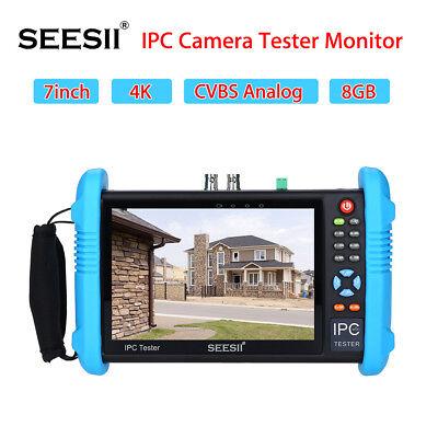 4 Karat IPC Kamera CCTV Tester Monitor CVBS Audio Analog POE Test 7
