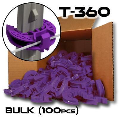 Lockjawz Bulk Electric Fence T Post Insulators - Purple T-360