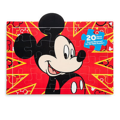 Disney Store Mickey Mouse Puzzle Place Mat Kids Dinnerware Gift NEW