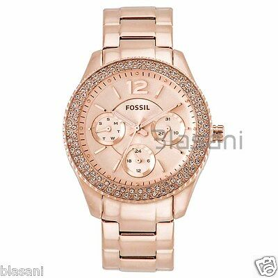 Fossil Individualist ES3590 Women's Stella Rose Gold Stainless Knife Watch 38mm