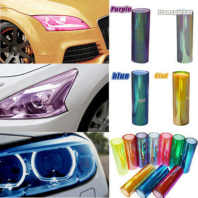 Headlight Film Car Light Lamp Decal Colors Chameleon Tint Vinyl Wrap Sticker