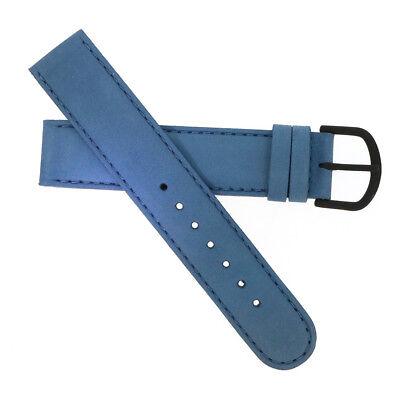 WatchPeople Uhrenarmband Leder taubenblau 18 mm