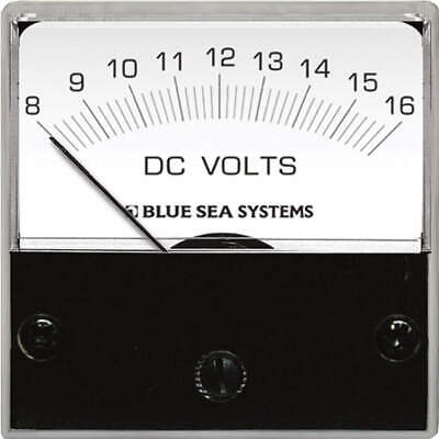 Blue Sea Systems 8028 Analog Micro DC Voltmeter - 8-16 Volts Micro Analog Systems