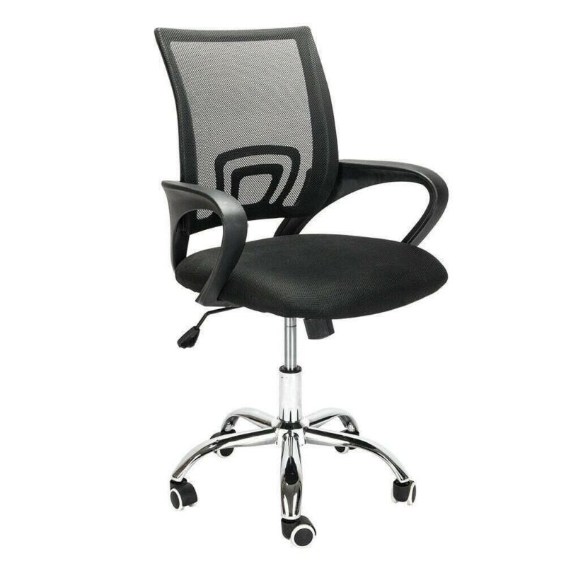 Ergonomic Mesh Computer Office Desk Chair Swivel Metal Base Black