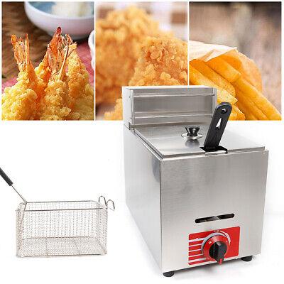 10l Commercial Countertop Gas Fryer Propane Lpg Heating Basket Deep Fryer Pot