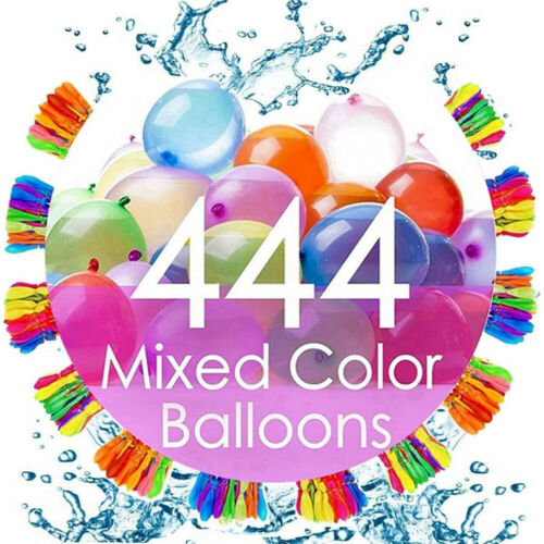 4PCS 444 Magic Water Balloons Self Sealing Instant Bunch O Style Easy Quick Fill