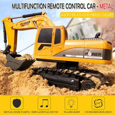 Remote Control Excavator RC Construction Tractor Vehicle Truck Digger Car D3J1