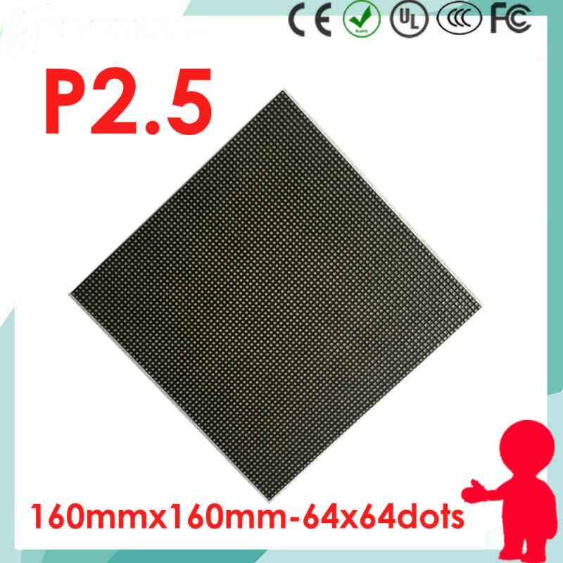 4pcs P2.5 led matrix module panel indoor rgb 64x64 dots pixels screen 160*160mm