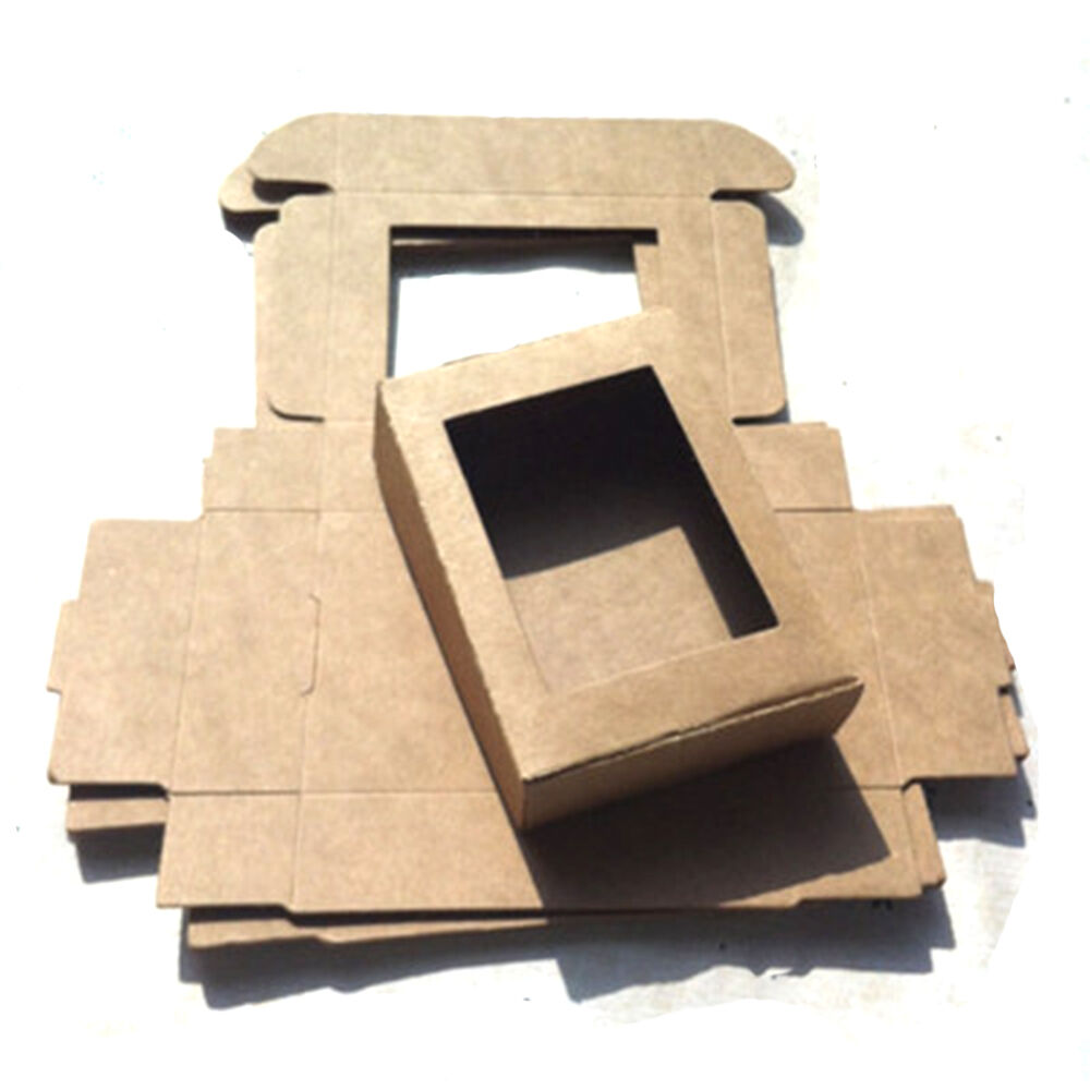 50PCS Kraft Paper Box Wedding Favor Candy Gift Party Supply