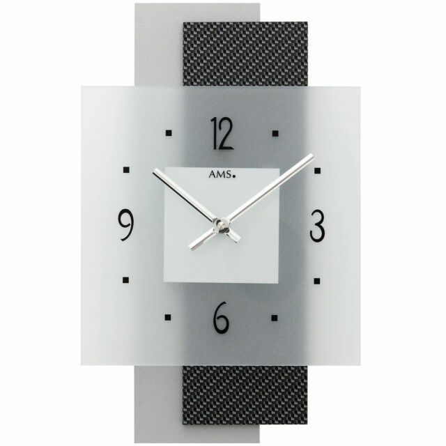 Modern Wall Clock With Quartz Movement From AMS Am W9243 eBay