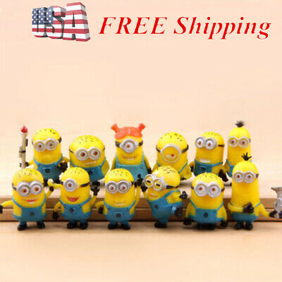 Despicable Me Minion Movie 12 PCS Action Figure Cake Topper Kids Gift Doll Toys (Doll Movi)