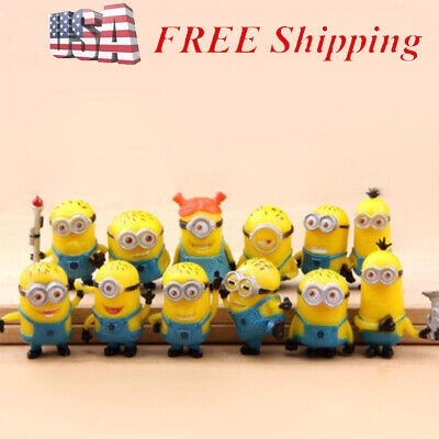 Despicable Me Minion Movie 12 PCS Action Figure Cake Topper Kids Gift Doll Toys](Despicable Me Toys)