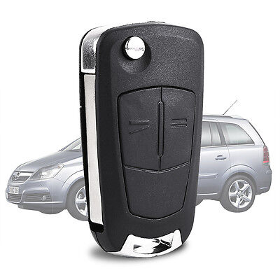 2 BUTTON Black REMOTE FLIP KEY FOB CASE FOR OPEL ASTRA VECTRA VAUXHALL