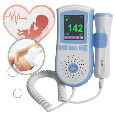 Lcd Fetal Doppler Prenatal Baby Heart Monitor 3mhz Probe Dual Interface Display