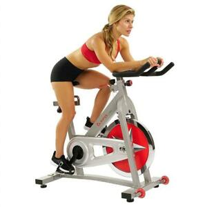 NEW Sunny Health  Fitness SF-B901 40 LBS (18 KG) Flywheel Chain Drive Pro Indoor Cycling Exercise Bike Vlo Stationna...