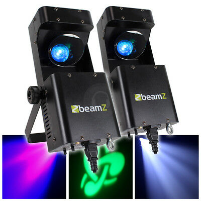 2x Beamz LED RGBW Wildflower GOBO Effect DJ Scanner Lights Lighting TTB4626