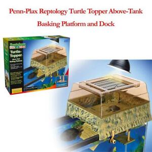NEW Penn-Plax Reptology Turtle Topper Above-Tank Basking Platform and Dock Condtion: New Open Box, Black