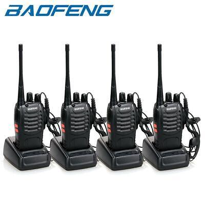 4 x Baofeng BF-888S Two Way Radio 400-470MHz Walkie Talkie Set with Flashlight