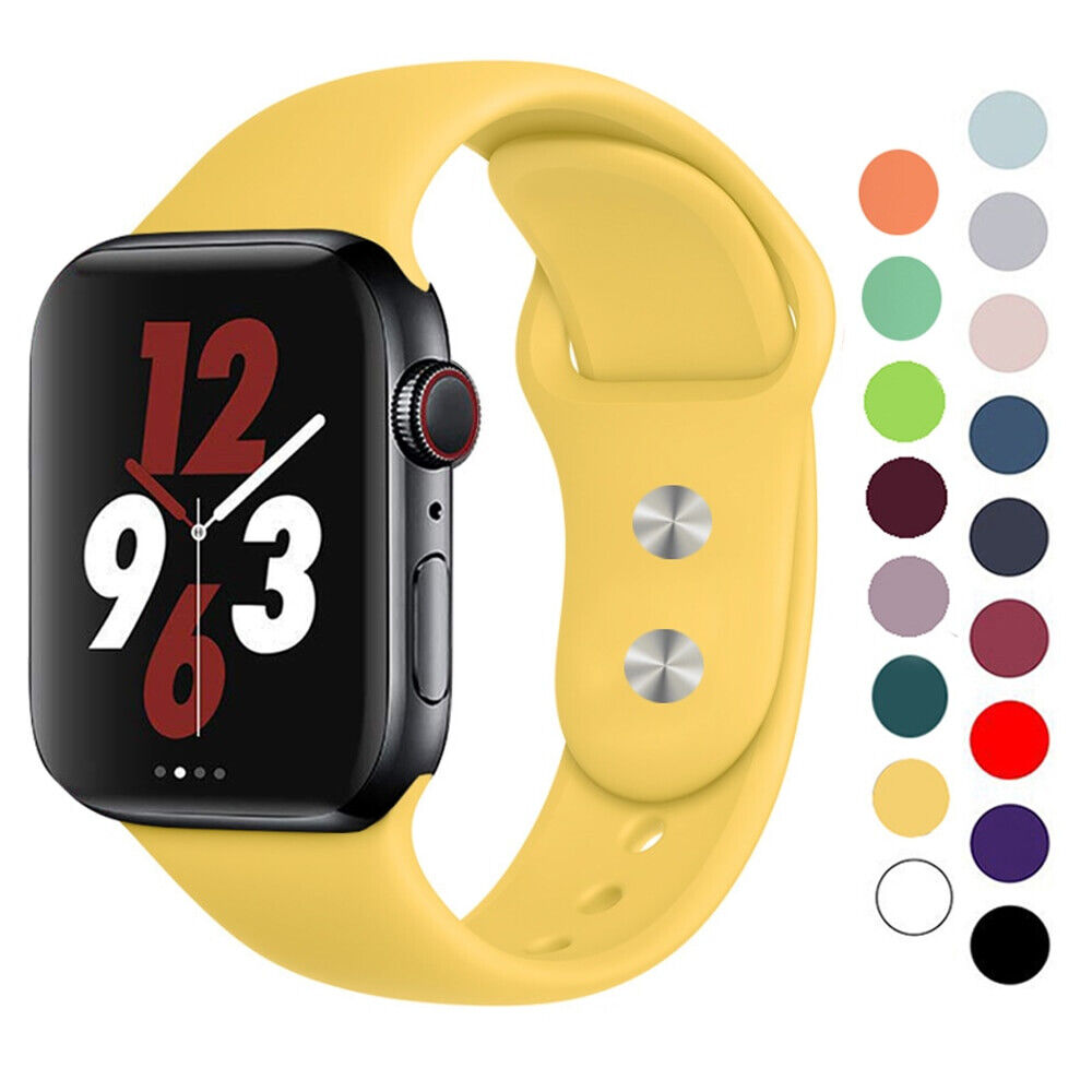 Silicone strap band for Apple Watch 42mm 38mm 44mm 40mm Rubb
