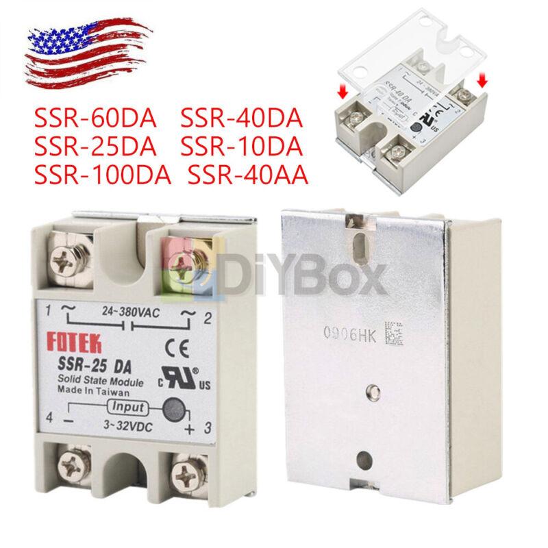 25A/40A/60A 250V SSR-25DA SSR-40DA SSR-60DA Solid State Relay Alloy Heat Sink AC