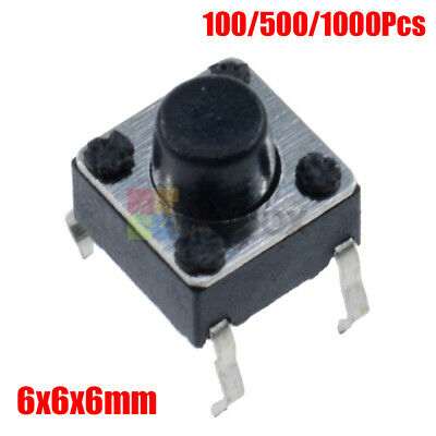 100-1000pcs 6x6x6mm Onoff Micro Switch Pcb Momentary Tactile Tact Switch Button