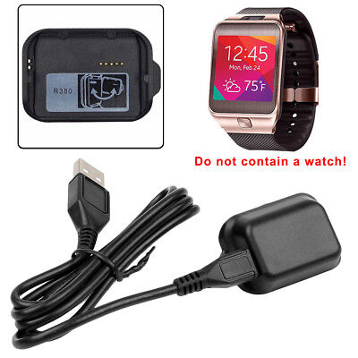 Black Dock Station Cradle - For Samsung Galaxy Gear 2 SM-R380 Watch Charging Cradle Charger Dock Station DIS