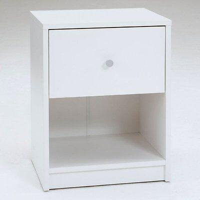 منضدة جانب السرير جديد Tvilum PORTLAND WHITE NIGHTSTAND 816853018853 Made In Denmark 7033149 NIGHTSTAND