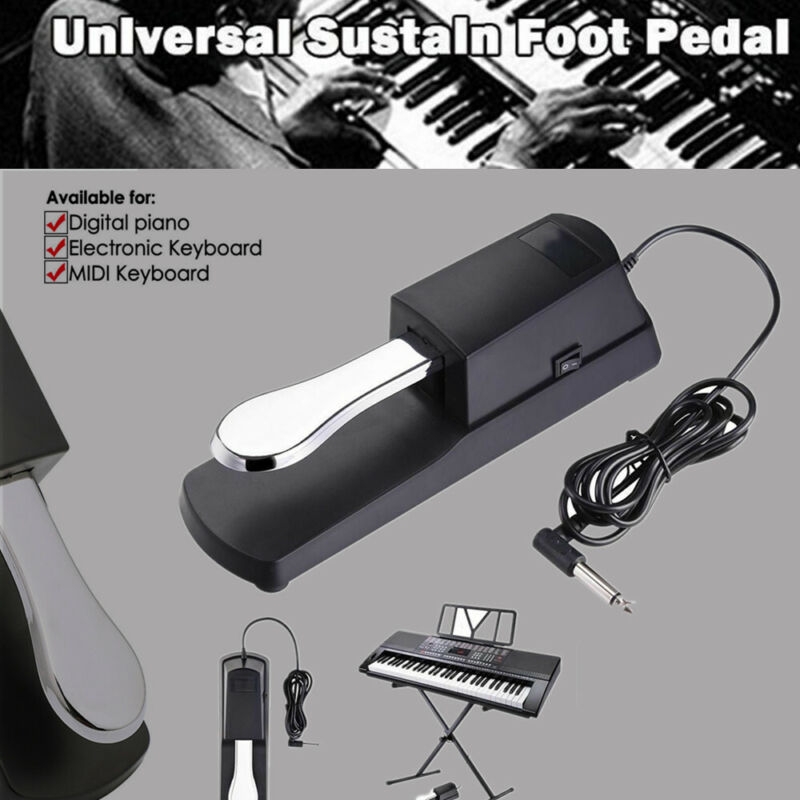 Damper Sustain Pedal Foot Switch for Yamaha Casio Electronic Piano Keyboard
