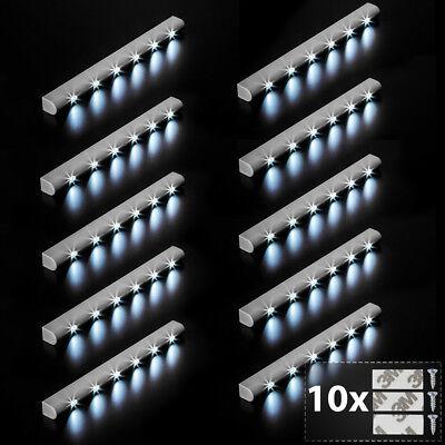10x Barra luminosa a 6 LED con sensore di movimento per armadi luce lampada nuov