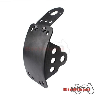 Black Motorcycle Side Mount License Plate Bracket Kit For Bobber Chopper - Side Bracket Kit