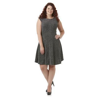 Simply Emma Women's Plus Metallic Sparkle Party Dress Size 18W or 20W (Glitter Emma Dress)