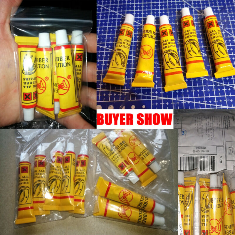 2/5x Bicycle Bike Tire Tube Patching Glue Rubber Cement Adhe